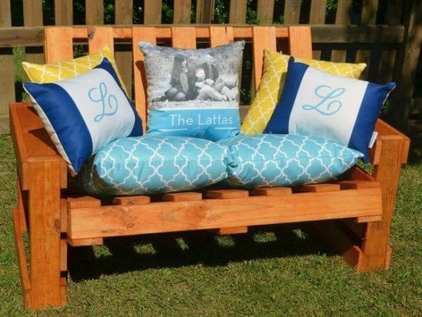 6. Pallet Bench Idea by simphome.com