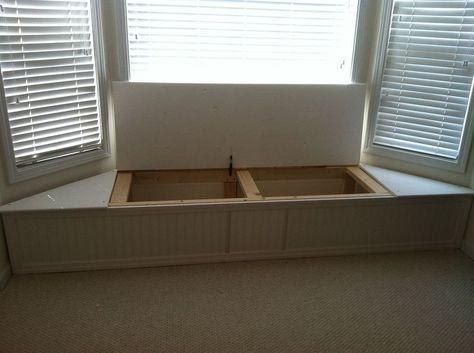7. Bay window flip top storage bench by simphome.com