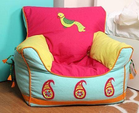 7. Bean Bag Cover with Alternative Design by simphome.com
