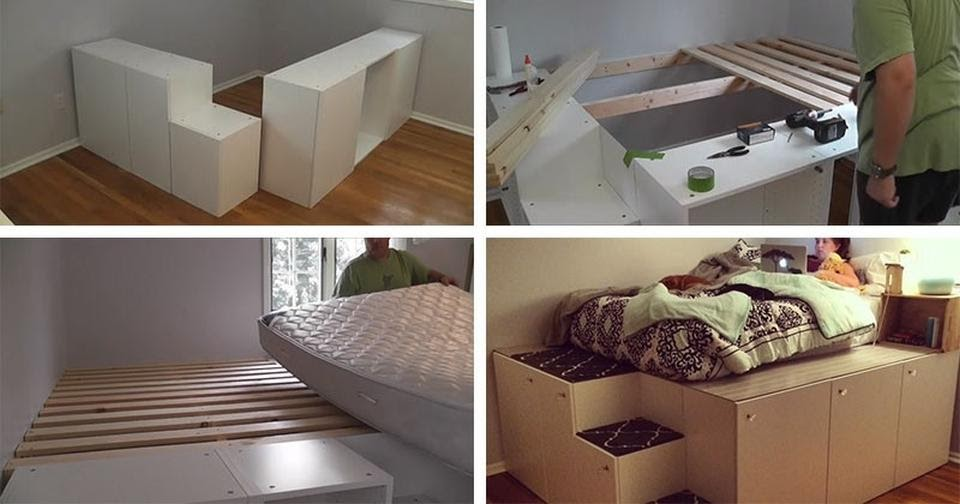 8. Cabinets to Platform Bed by simphome.com
