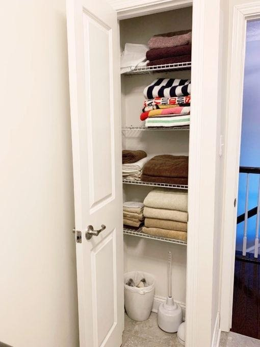 8. New love for your small linen closet by simphome.com .