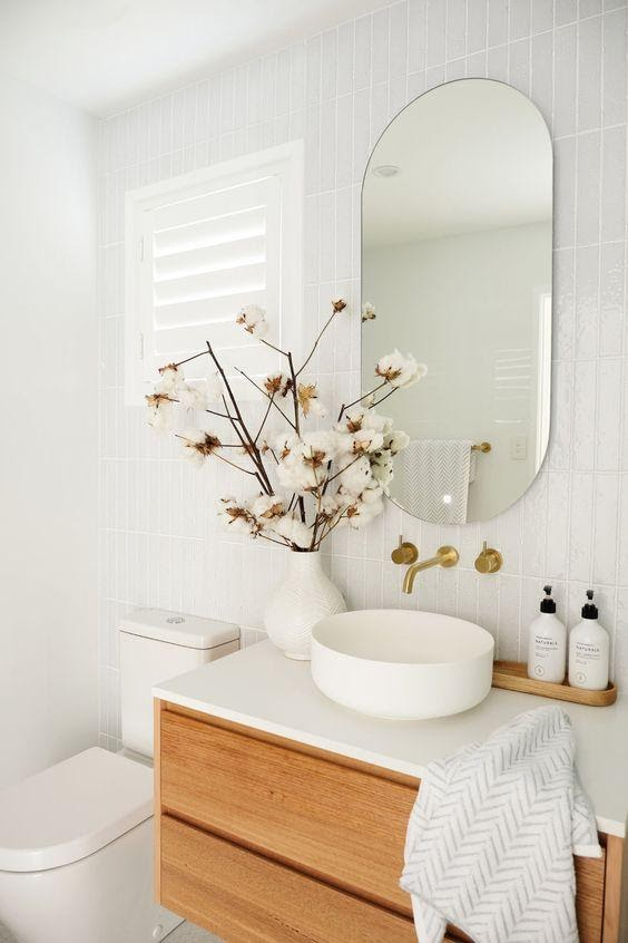 8. bathroom trends natural element wood by simphome.com