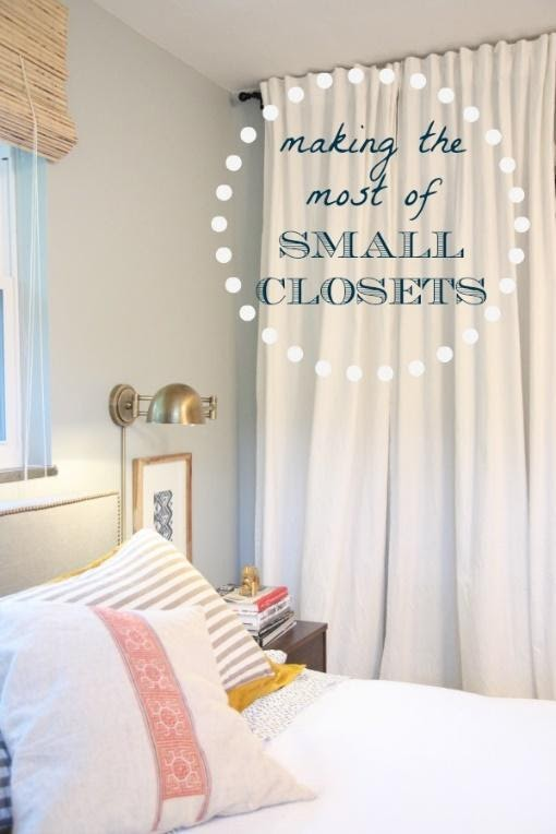 9. Or use the same trick to Making the Most of Small Closets Master Bedroom by simphome.com