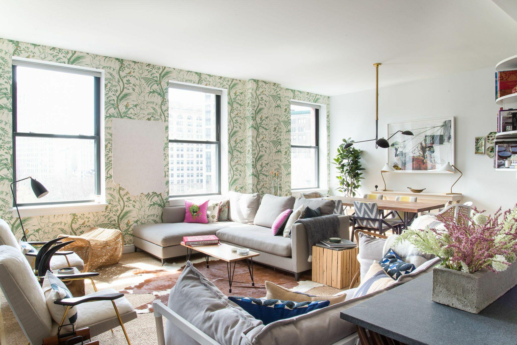 Seperate your living room with wallpaper via Simphome.com .jpg