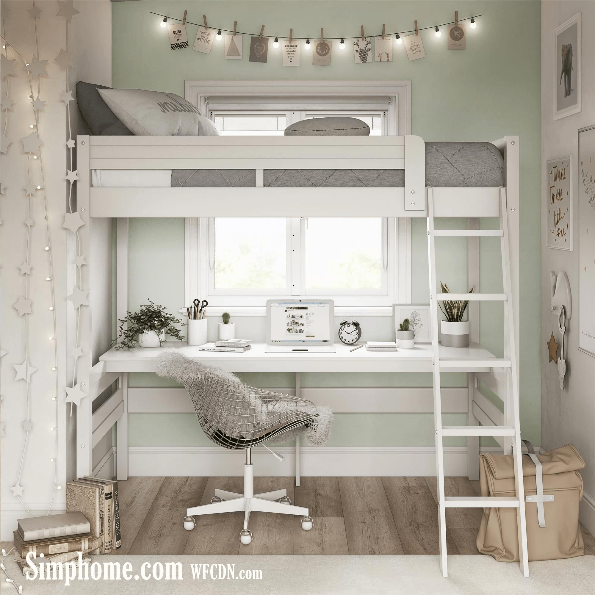 1. Invest in a Loft Bed via Simphome.com