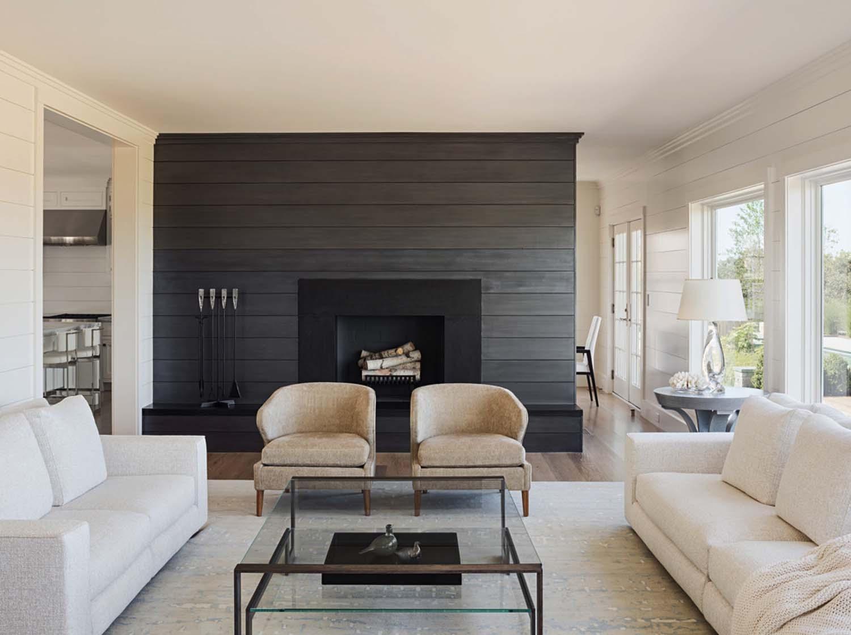 1. Shiplap Fireplace Mantel by simphome.com