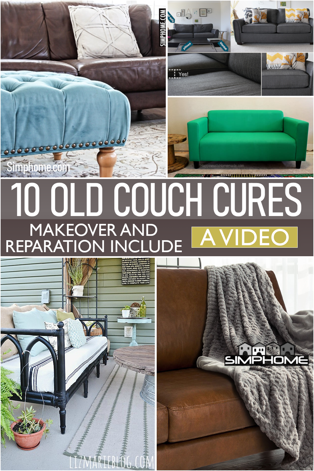 10 Old Couch Makeover DIY via Simphome.comFeatured