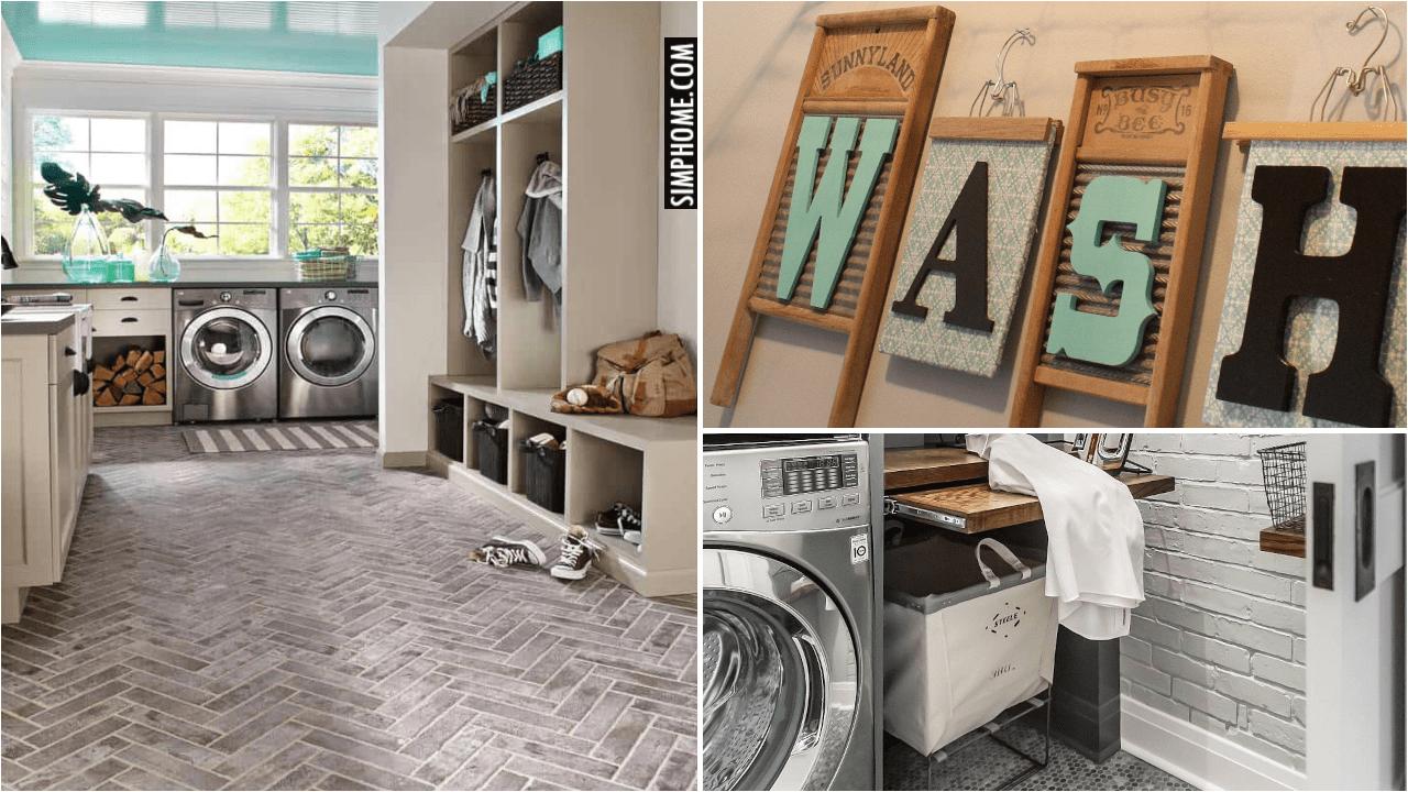 10 Transitional Laundry Room Ideas via Simphome.comThumb