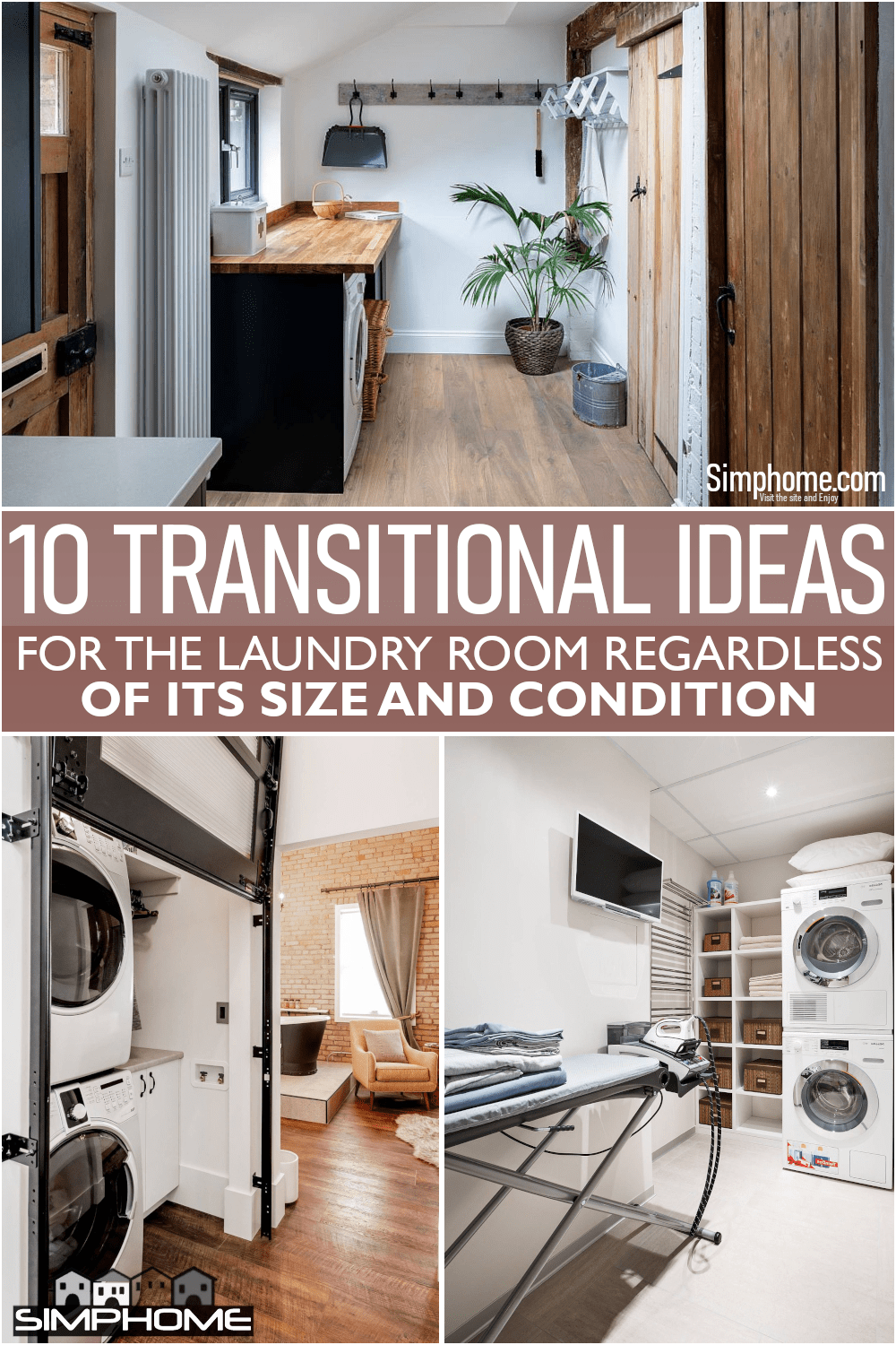 10 Transitional Laundry Room via Simphome.comFeatured