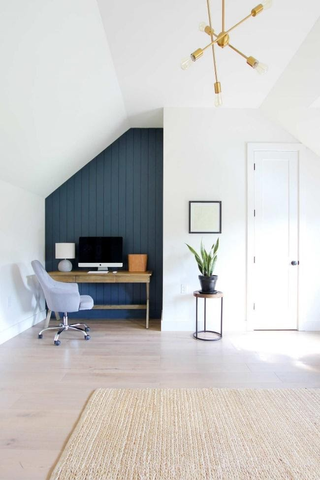 10. Shiplap Wall for a Multipurpose Living Room by simphome.com