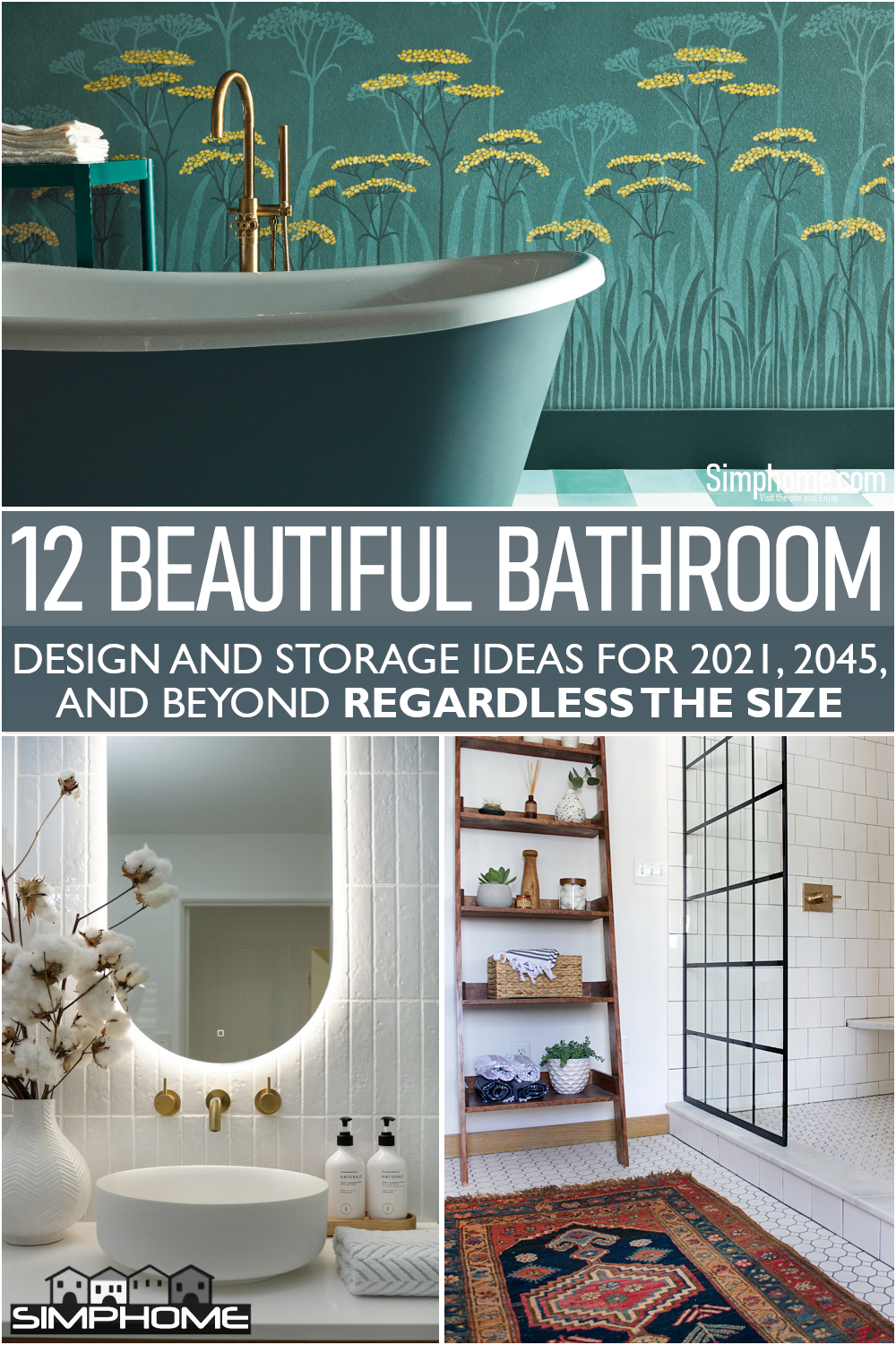 This is our awesome list of bathroom trends for 2021 or 2100