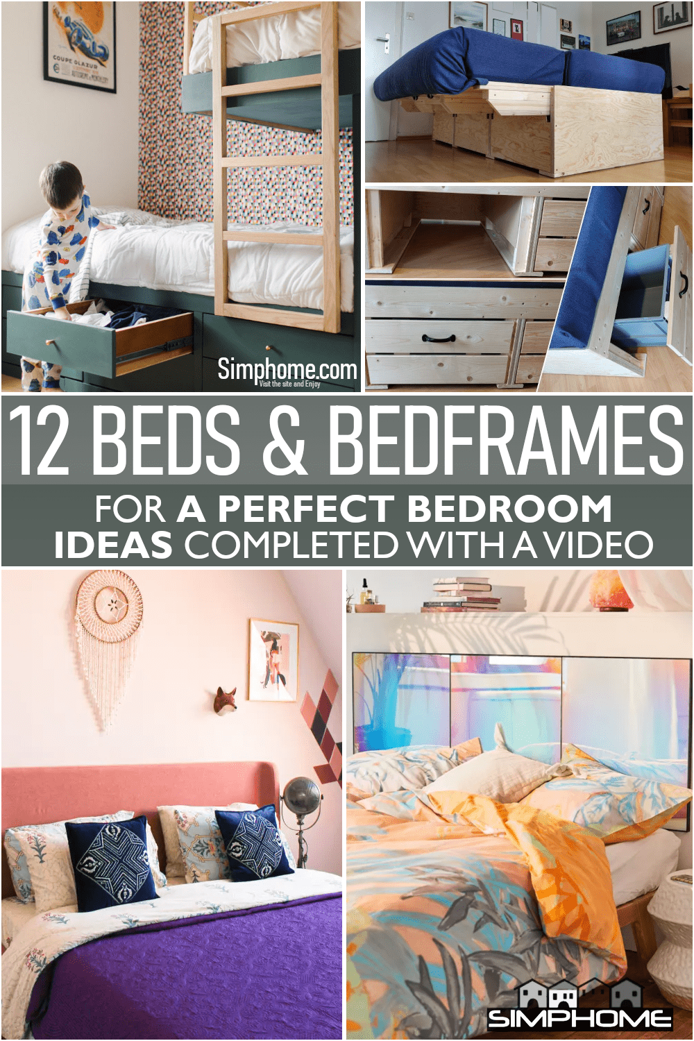 12 Beds and Bedframes Ideas for A Perfect Bedroom via Simphome.comFeatured