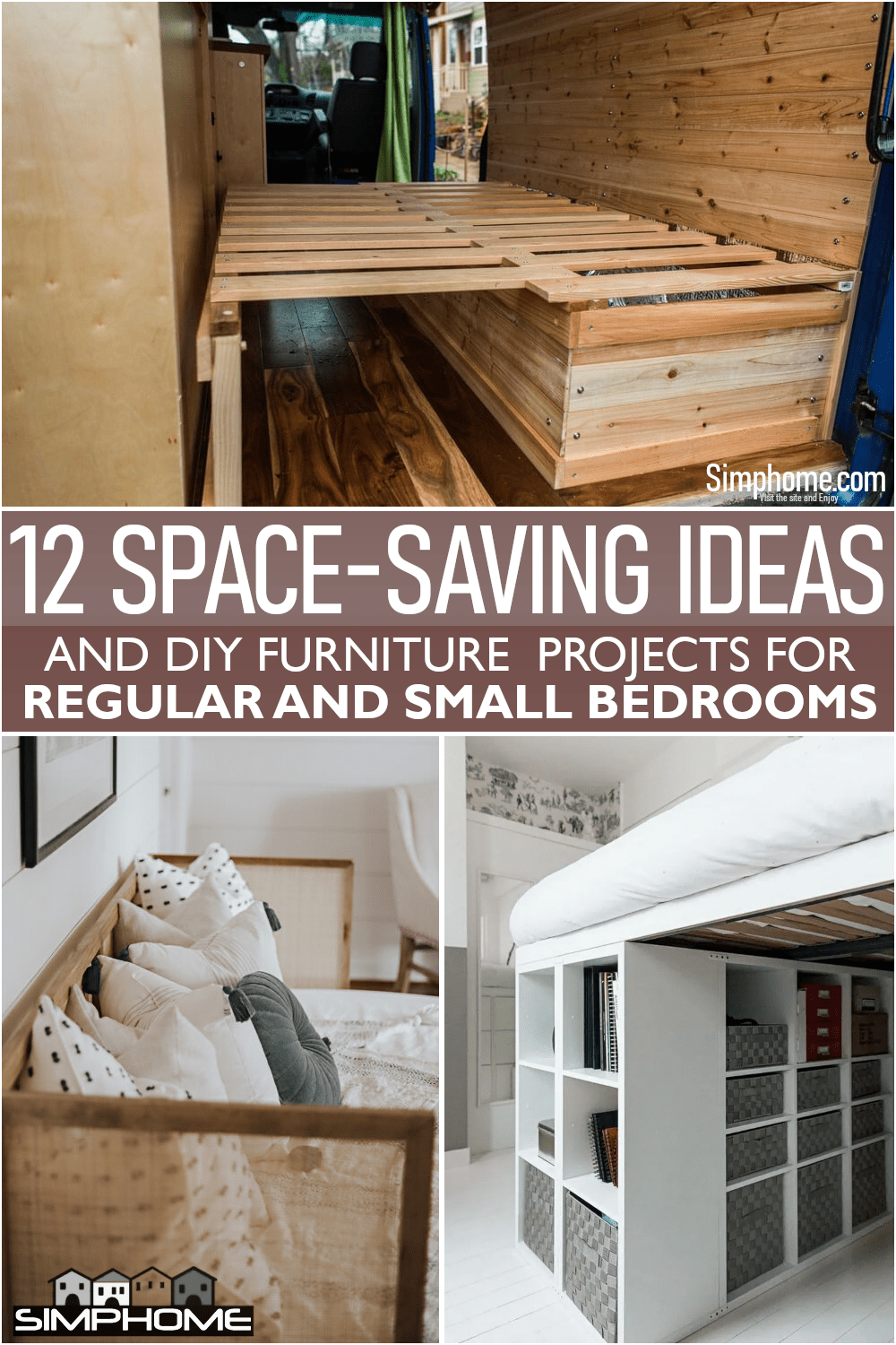 12 Space Saving Furniture For Bedroom Ideas via Simphome.comFeatured