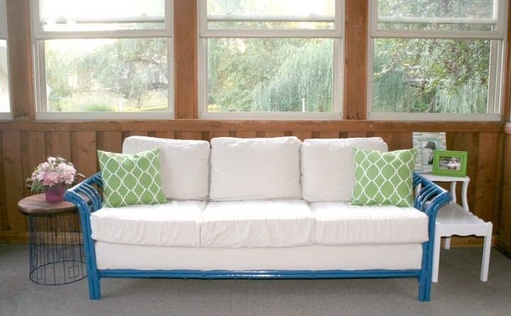 4. Wicker Couch Makeover by simphome.com