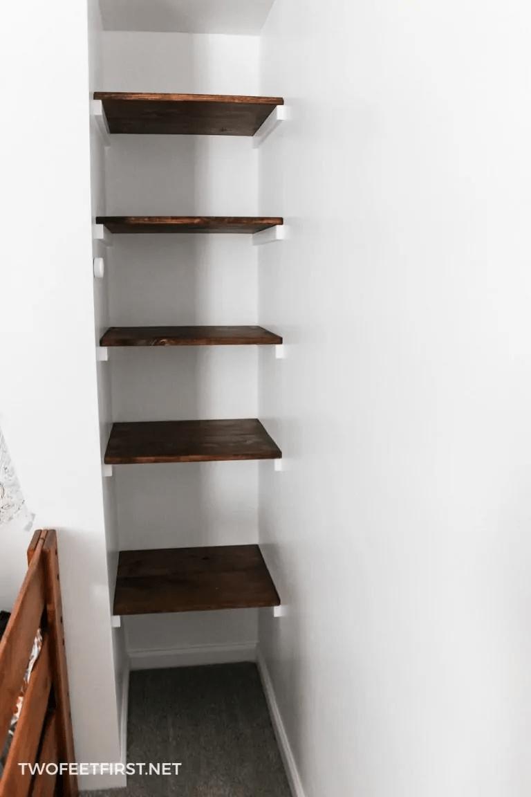 4.Build A Simple Wall to Wall Shelves via Simphome