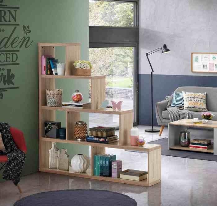 6. Shelves as a Room Divider by simphome.com