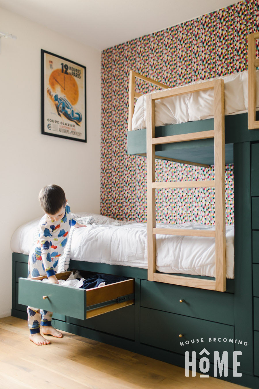 Storage Drawers in Built in Bunk Beds Simphome.com .jpg