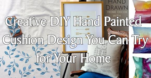 Creative DIY Hand Painted Cushion Design simphome.com