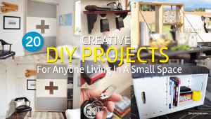 Creative DIY projects for anyone living in a small space Simphome com