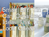 DIY Tin Can Organizer Simphome com