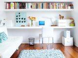 home office floating shelves